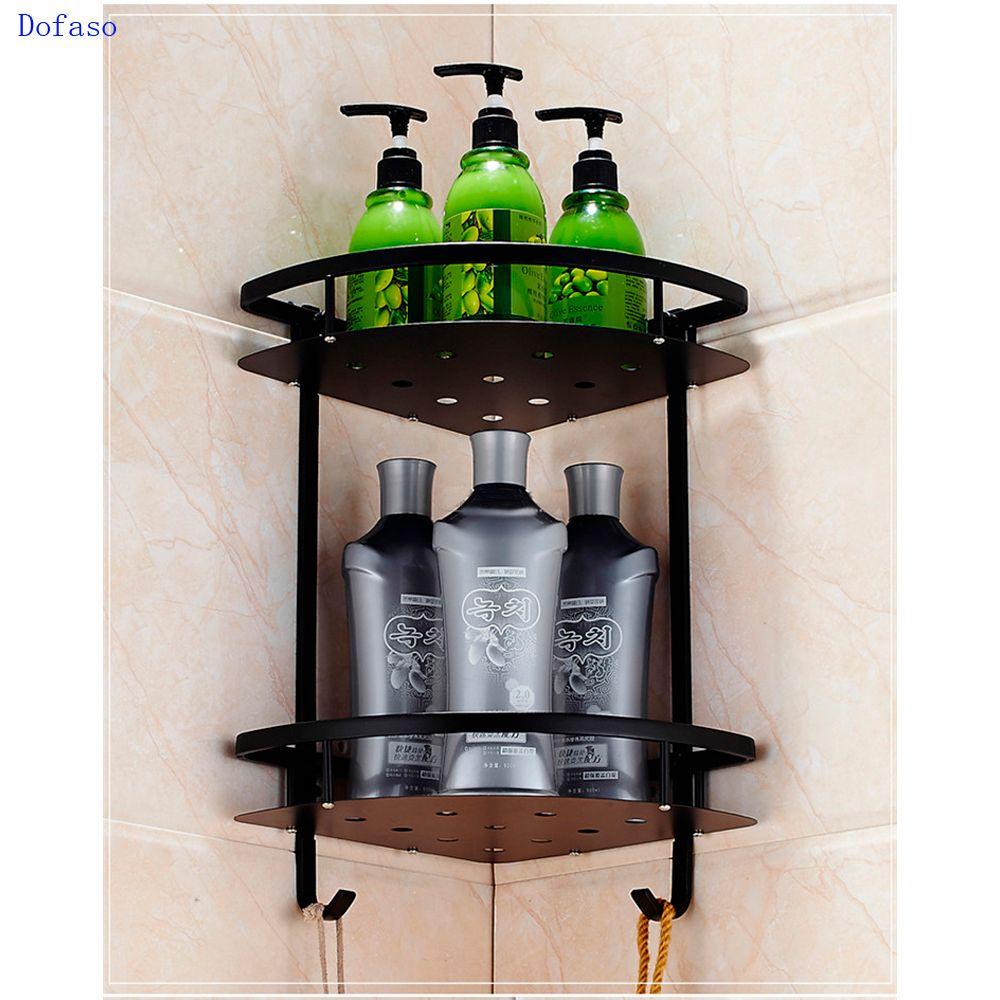 Dofaso для ванной винтажные черные полотенец настенное крепление масло втирают Бронзовый черный Душ Стойку
