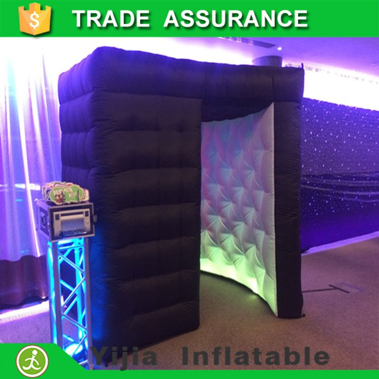 Hot selling portable led stripes photo booth inflatable
