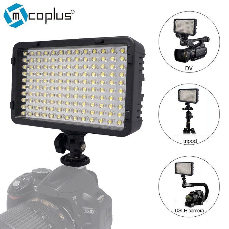 Mcoplus 130 LED éclairage vidéo/photographie pour caméscope DV et Canon Nikon Pentax Sony Olympus appareil photo reflex numérique VS CN-126