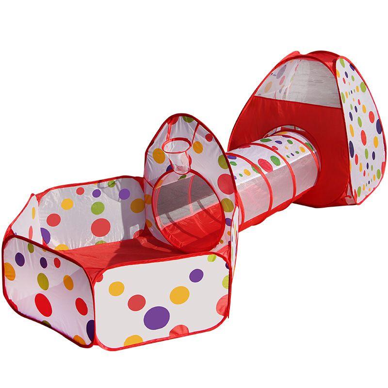 3 In 1 Kids Tent Pipeline Crawling Huge Game Play House Baby Play Yard Ball Pool Outdoor Indoor Baby Playpen Tienda Corralito