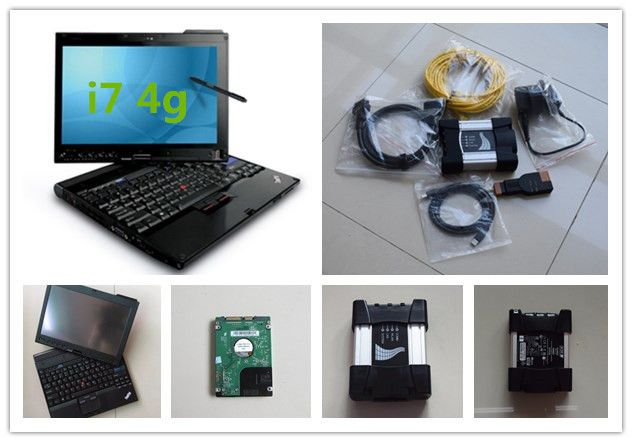 for bmw diagnose scanner for bmw icom next new version for icom a3 with hdd 500gb software with x201t laptop i7 4g ready to use
