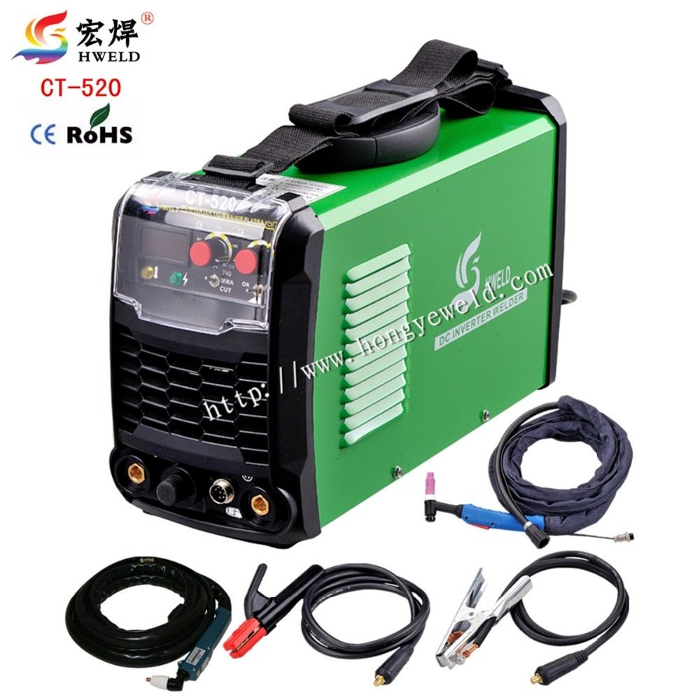 Tig Welder 3in1 Portable Welding Machine CT520 Inverter Weld Air Plasma Cutter Welder Tig Plasma Kaynak Makinesi 220V HWELD