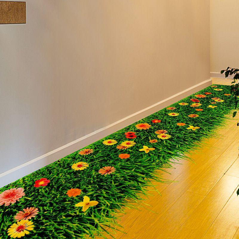 [SHIJUEHEZI] Fleur Pelouse Étage Autocollant Environnement PVC Matériel Moderne BRICOLAGE Home Decor pour Chambre D'enfants de La Maternelle Décoration