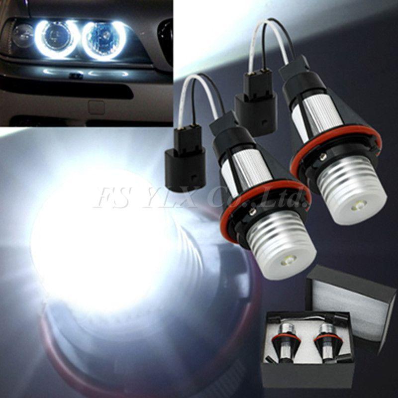 Fsylx 1 компл. LED Ангельские глазки Светодиодный Маркер для BMW E39 ксенон белый светодиод Ангел глаз Halo света для BMW E53 e60 E61 E63 E64 E65 E66 E87