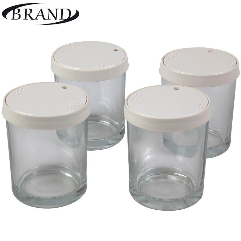 Brille tassen 4001 für Joghurt maker, 200 ml * 4 stücke, kunststoff abdeckung, datum des ablaufs anzeige