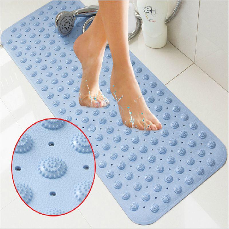 Полезные 36*69 см новые Нескользящие коврик для ванной массаж с присоской ПВХ коврик для душа для ванной туалет для ванной ковров ванная комна...