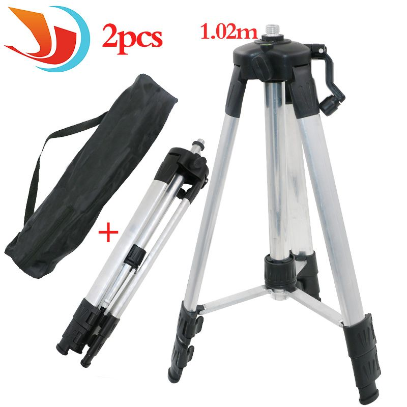 Portable High quality 1.02m Adjustable Height thicken aluminum Tripod 5/8 male threads laser <font><b>level</b></font> tripod
