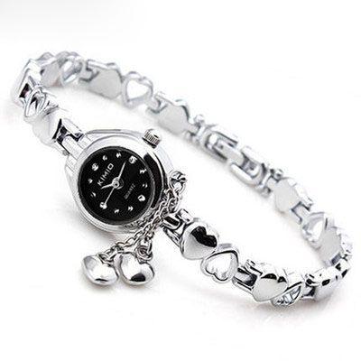 KIMIO Mujer Vestido Reloj de Cuarzo Reloj de Pulsera de Reloj de Las Señoras de La Borla Hollow Amor Corazones de Acero Correa de Reloj de pulsera Montre Femme