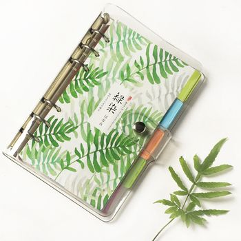 Transparent Planner A5 A6 A7, Clear Planner Organizer Jacket Cover 45 sheets Refill paper 5 sheets planner dividers