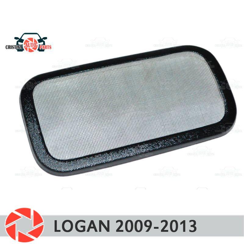 Filter mesh unter jabot für Renault Logan 2009-2013 kunststoff ABS schutz dekoration geprägte außen auto styling zubehör