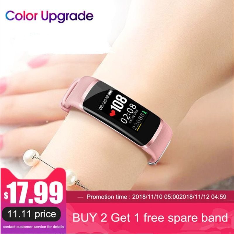 Longet Fitness Tracker M4 Newest chip Nrf52832 real-time Heart Rate+ blood pressure Monitor Smart Bracelet wristband & stopwatch