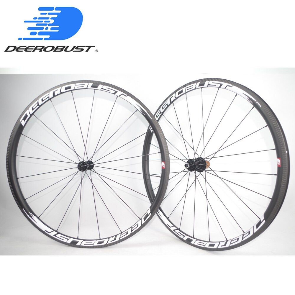 1322g Extralite 700C 30mm Deep U Shaped Carbon Tubeless Clincher Road Bike Wheels Bicycle Wheel set 6 pawls 20 24 Holes Antibite