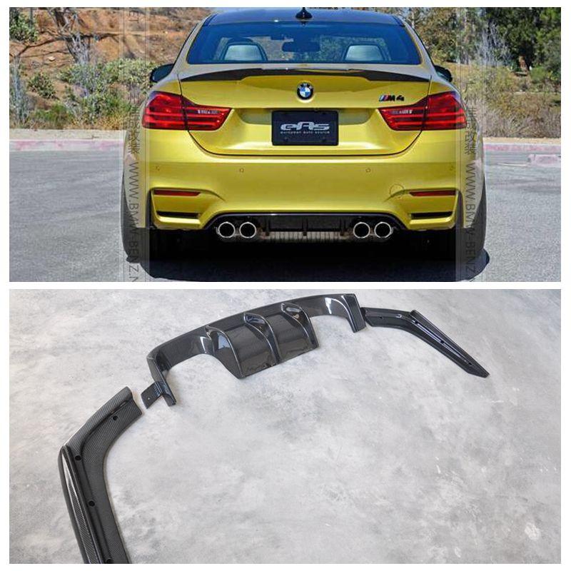 V Stil Carbon Fiber Car body Kits Hinten Lip Diffusor Spoiler 3 PCS für BMW F80 M3 F82 F82 M4 2014 up auto zubehör auto styling