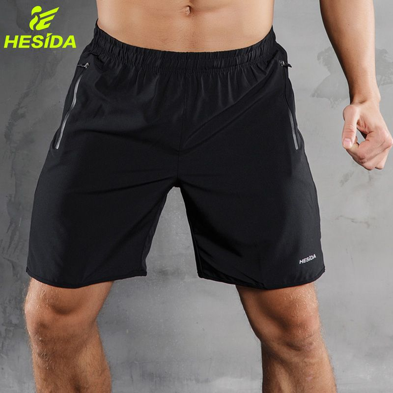 Men Sports Running Shorts Pants Quick Dry Breathable Running Workout Bodybuilding Pocket Tennis Gym <font><b>Training</b></font> Short Men Fitness