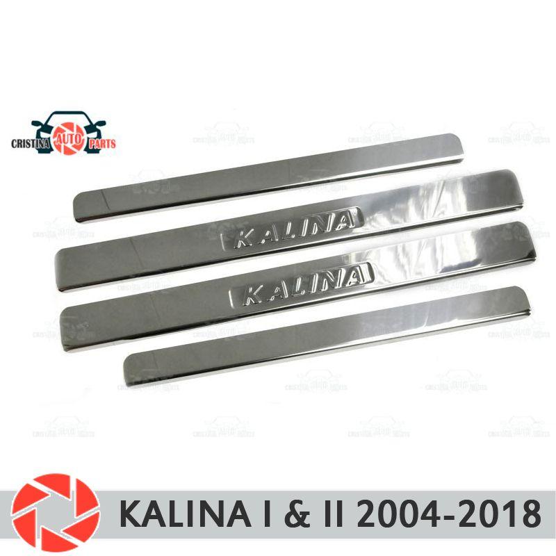 Einstiegsleisten für Lada Kalina 2004-2018 schritt platte inneren trim schutz scuff auto styling dekoration stempel buchstaben version