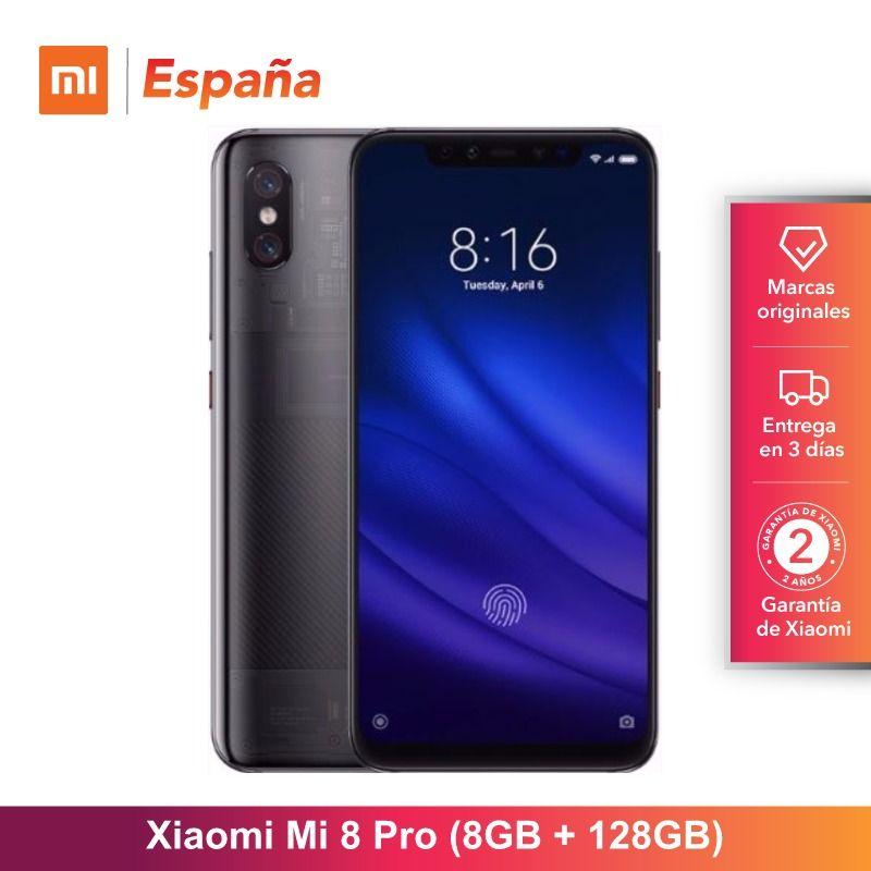 Globale Version für Spanien] Xiao mi mi 8 Pro (Memoria interna de 128 GB, RAM de 8 GB, Pantalla AMOLED de 6,21