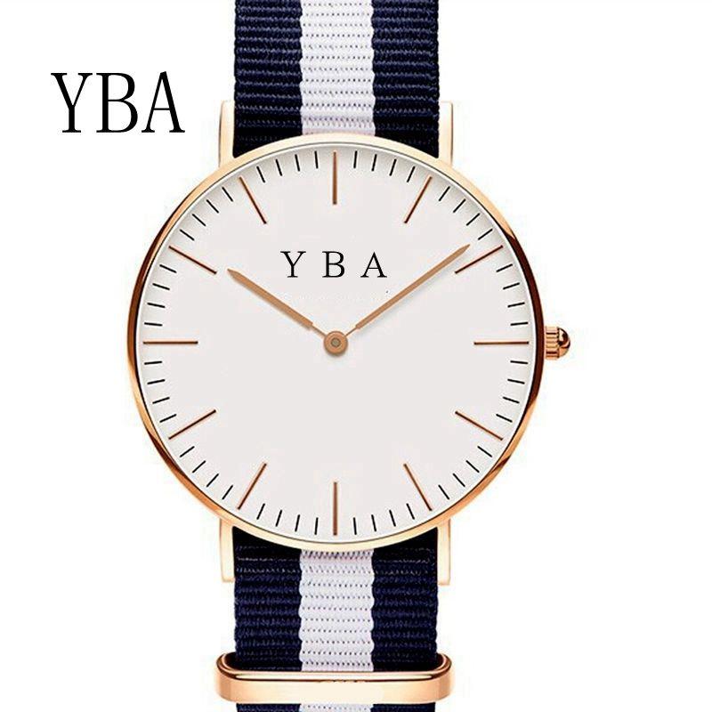 Simple de Los Hombres de Negocios Reloj de pulsera Correa de Nylon correas de Reloj Masculino Reloj de Ginebra relojes de las mujeres Relogio masculino moda DW Stijl