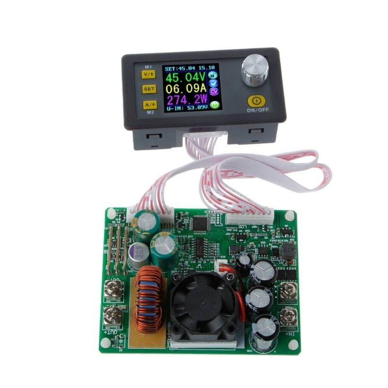 OOTDTY Adjustable Constant Voltage Step-down LCD Power Supply Module Voltmeter