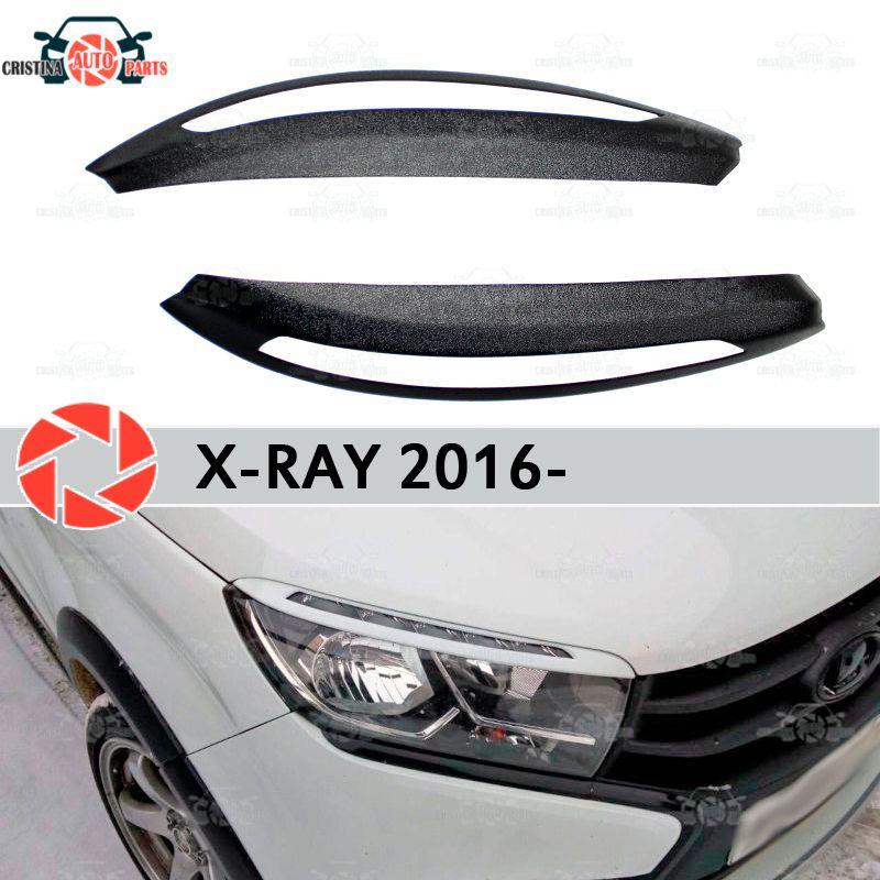 Für Lada X-Ray 2016-augenbrauen für scheinwerfer zilien wimpern kunststoff ABS formteile dekoration trim abdeckungen auto styling tuning