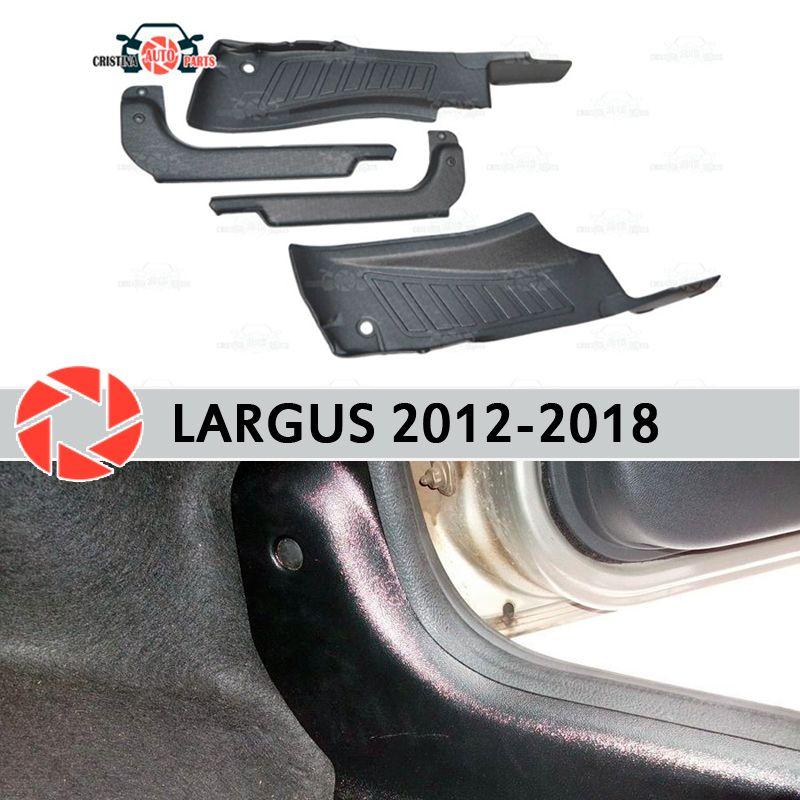 Tür sill trim teppich für Lada Largus 2012-2018 innere sill schritt platte trim schutz teppich zubehör auto styling dekoration
