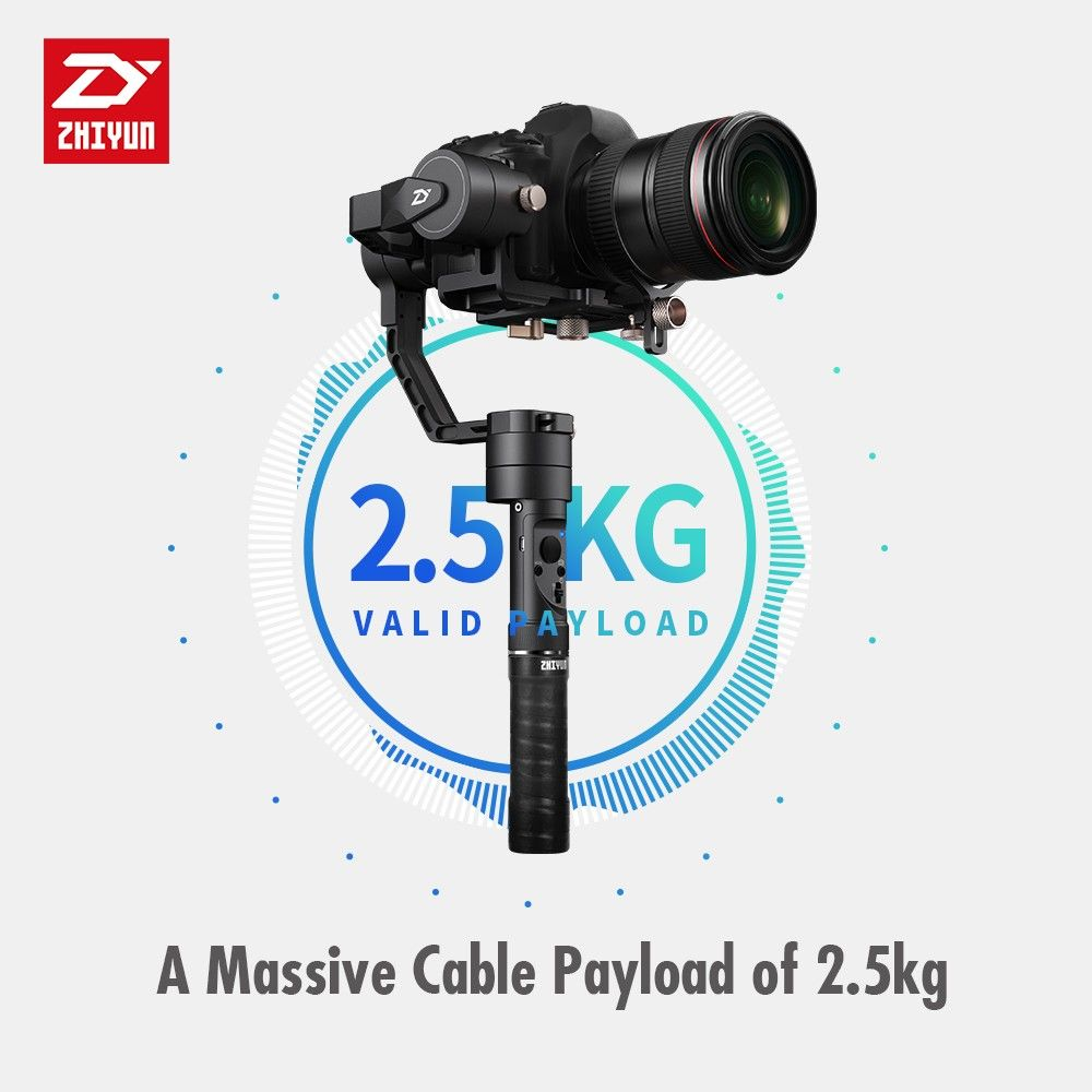 Zhiyun Crane Plus 3 Axis 3-Axis Handheld Gimbal Stabilizer for All Models of DSLR Mirrorless Canon 5D2/5D3/5D4 MINI DSLR Camera