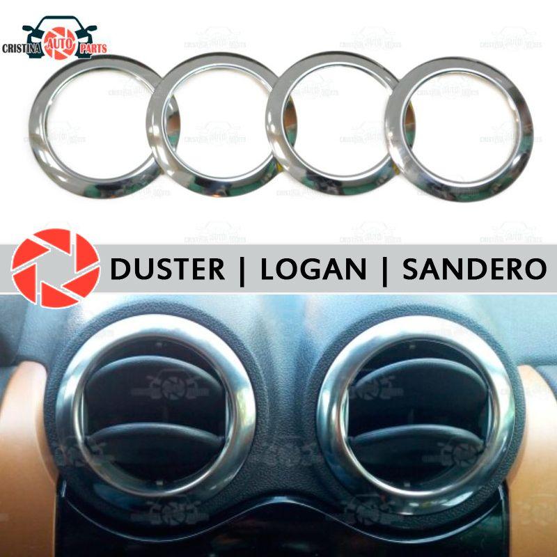 Für Renault Duster Logan Sandero chrom kappe auf air deflektoren edelstahl innen molding aussehen auto styling dekoration