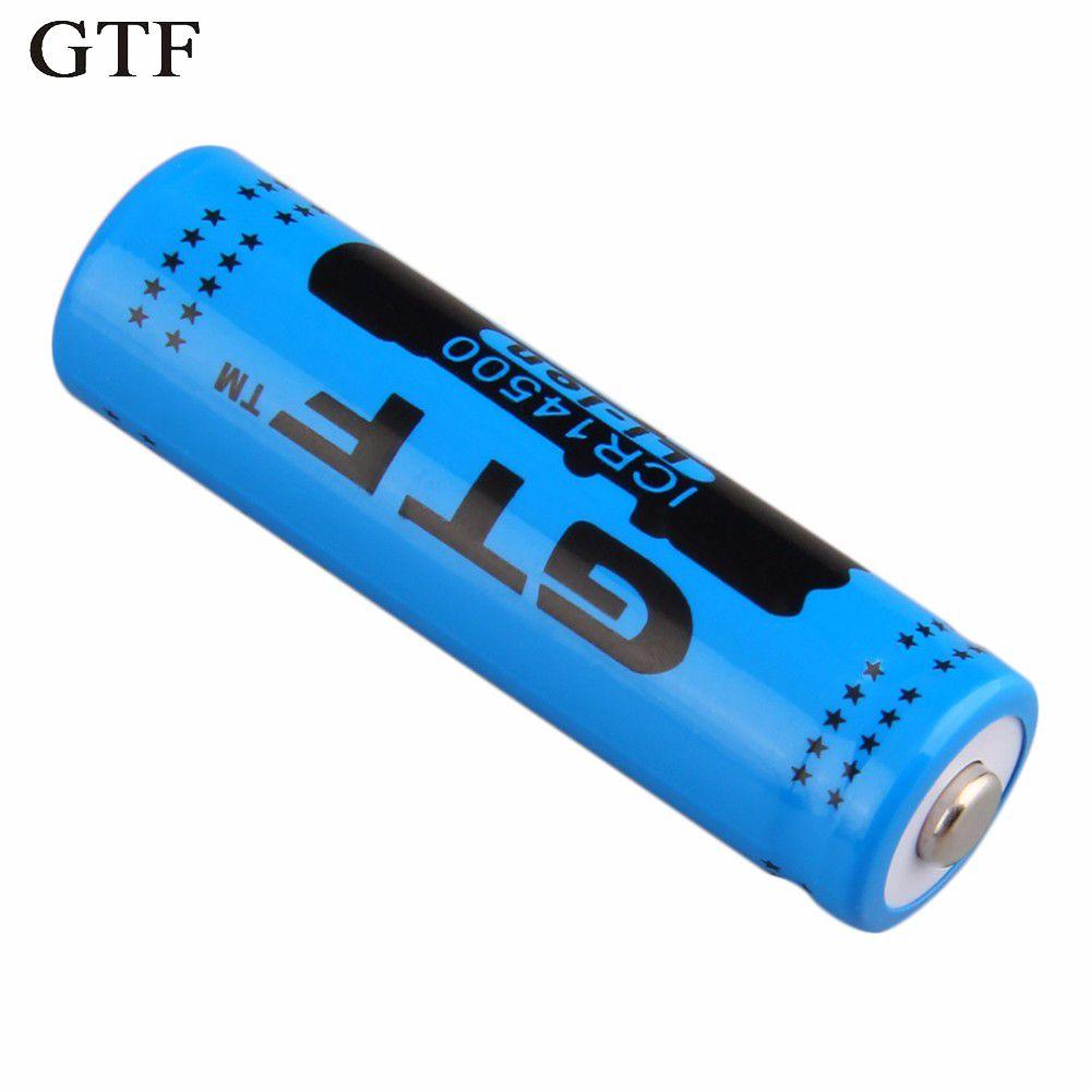 GTF 1 stück 14500 3,7 V 2800 mAh Wiederaufladbare Li-Ion Akku für Led-taschenlampe Batterie