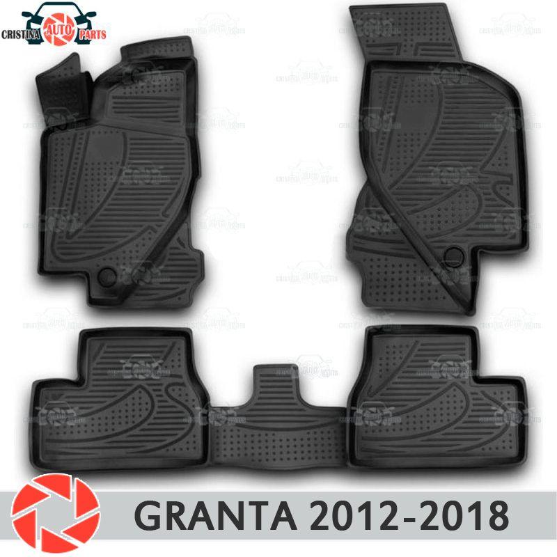Für Lada Granta 2012-2018 Limousine Liftback fußmatten teppiche non slip polyurethan schmutz schutz innen auto styling zubehör