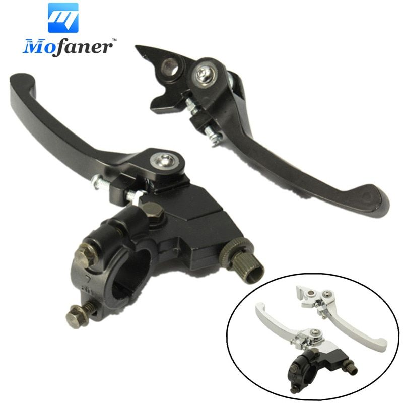 1 Pair Black Chrome Clutch Brake Lever 22mm 7/8 inch Handlebar 125cc 140cc Pit Dirt Bike