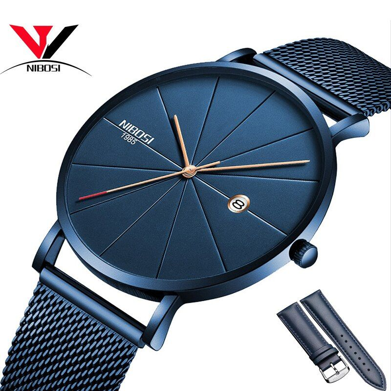 NIBOSI Watch Women And Men Watch Top Brand Luxury Famous Dress Fashion Watches Unisex Ultra Thin Wristwatch Relojes Para Hombre