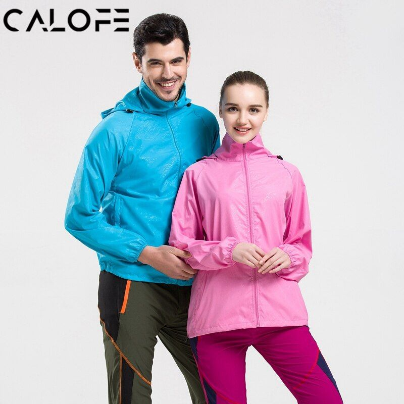 CALOFE Outdoor Skin Sport Jacket Men Women Ultra Thin Running Jackets Anti-UV Quick Dry Gym Shirts Plus Size Sun Protection Coat