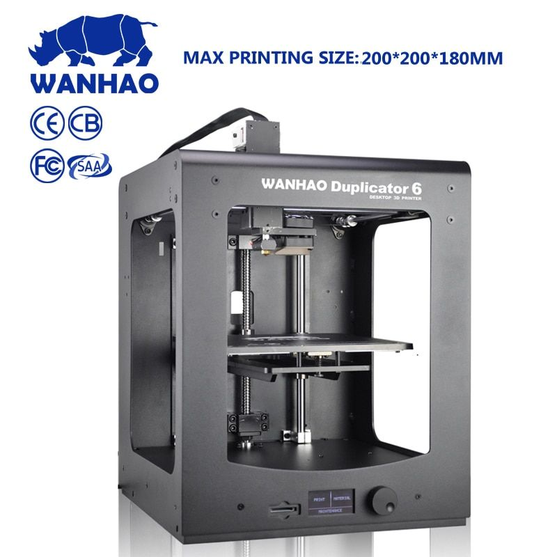 Wanhao TopSell 3D printer Duplicator 6 PLUS MARK II home use and industrial grade with fast printing speed auto leveling machine