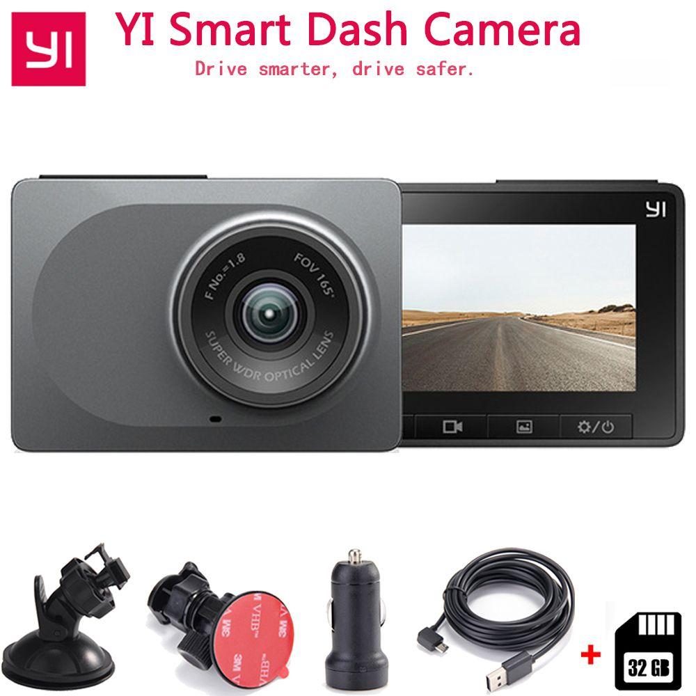 Xiaomi YI caméra de tableau de bord intelligente enregistreur de conduite automatique WiFi voiture DVR HD 1080P 2.7 165 degrés 60fps ADAS rappel sûr Dashcam