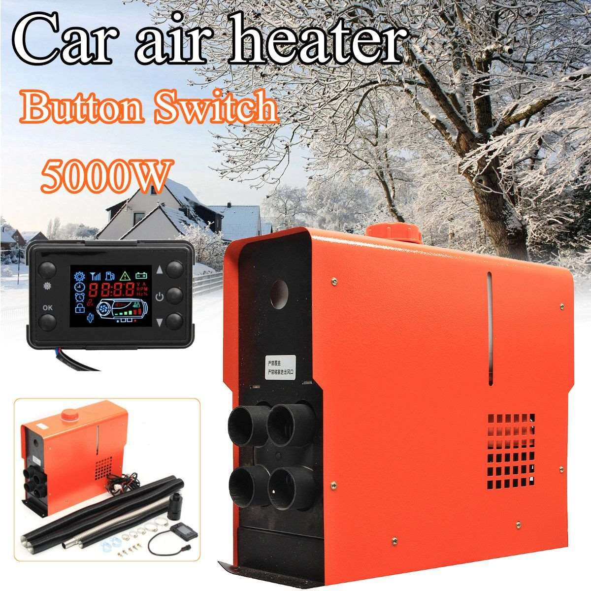 New Arrival 5KW 12V Integration 4 Holes Air Diesels air parking heater Knob / key / digital switch Car Heater
