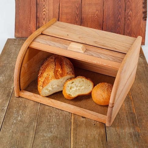 Brot box lagerung box brot korb bord topf brot maker holz buche natur verkauf Brot Halter Lebensmittel Lagerung Container 40 -11