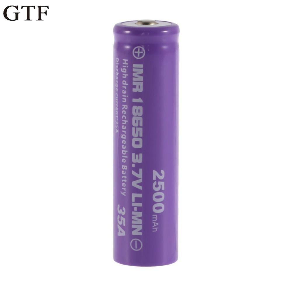 GTF 1 stück 18650 Batterie Ablauf Wiederaufladbare Batterie 18650 35A 3,7 v LI-MN 2500 mAh Button Oben Akku Für Taschenlampe taschenlampe