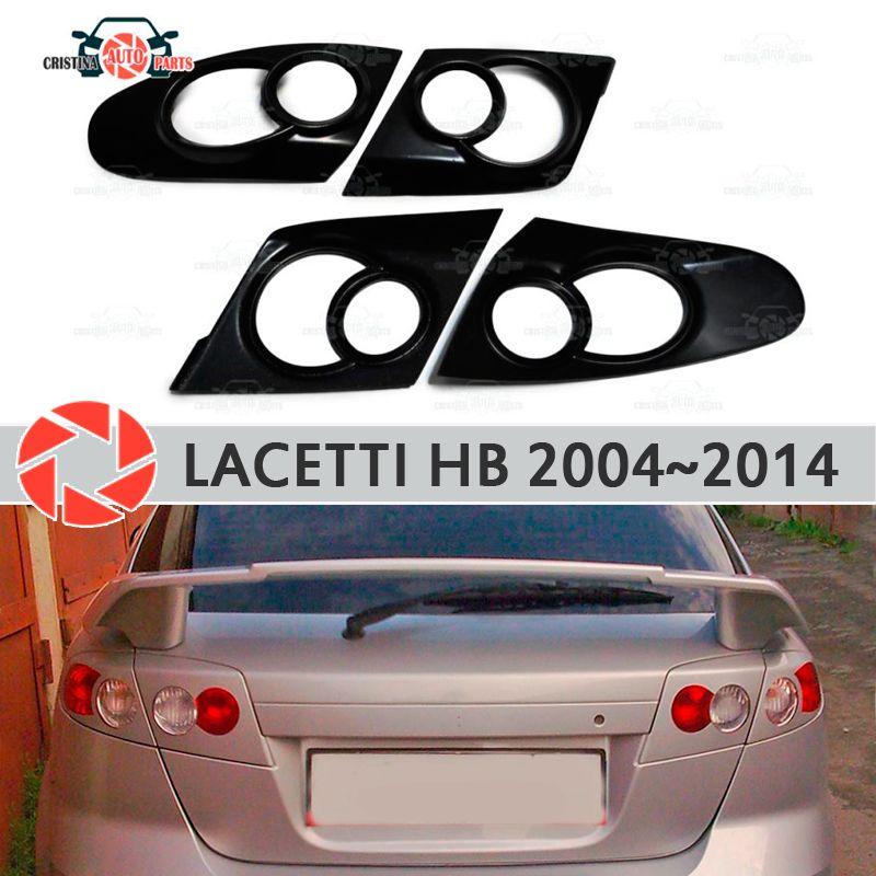 Augenbrauen für Chevrolet Lacetti Fließheck 2004-2014 für hinten lichter zilien wimpern kunststoff ABS formteile trim abdeckungen auto styling