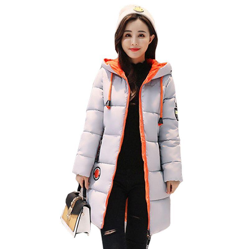 Winter Coat Women Slim Outwear Medium-Long Wadded Jacket Thick Hooded Cotton Fleece Warm Cotton Parkas