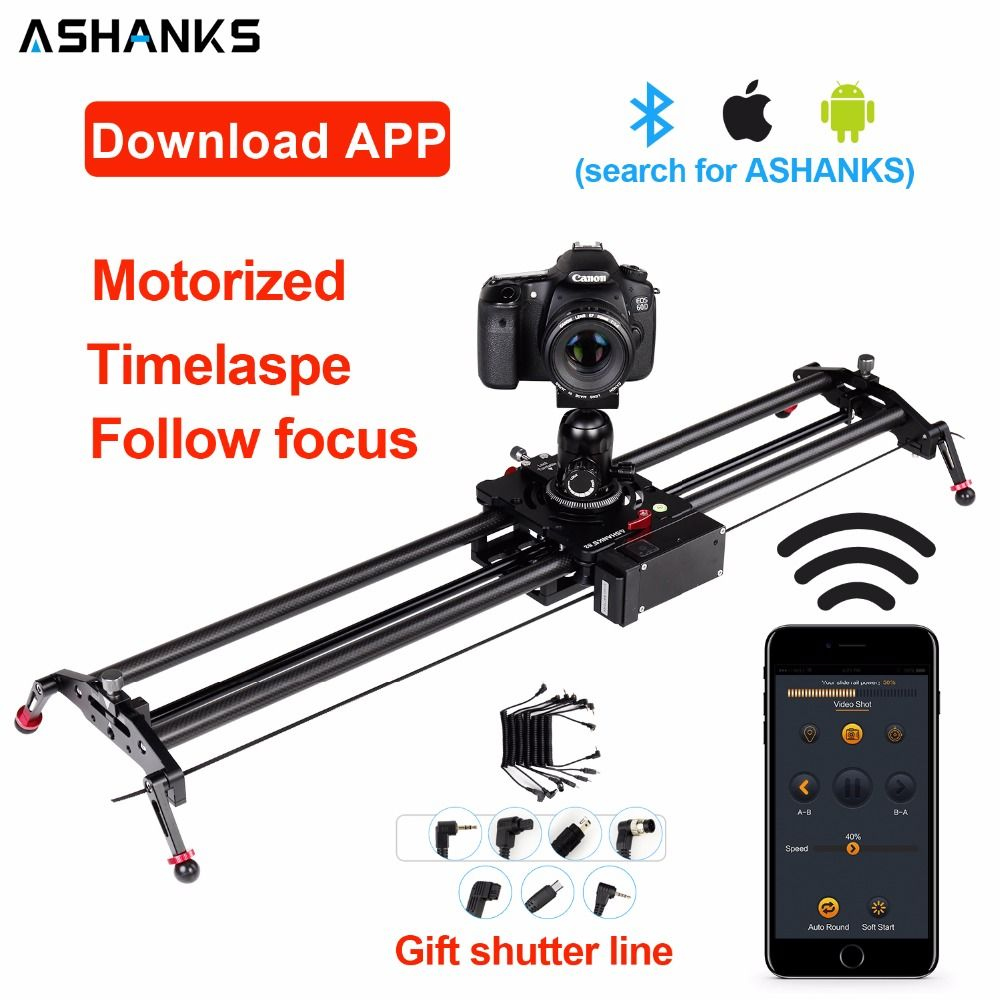 Bluetooth Carbon Kamera Slider Motorisierte TimeLapse Elektrische Verzögerung Rutsche Schiene Stabilisator für Fotografie Canon DSLR Video