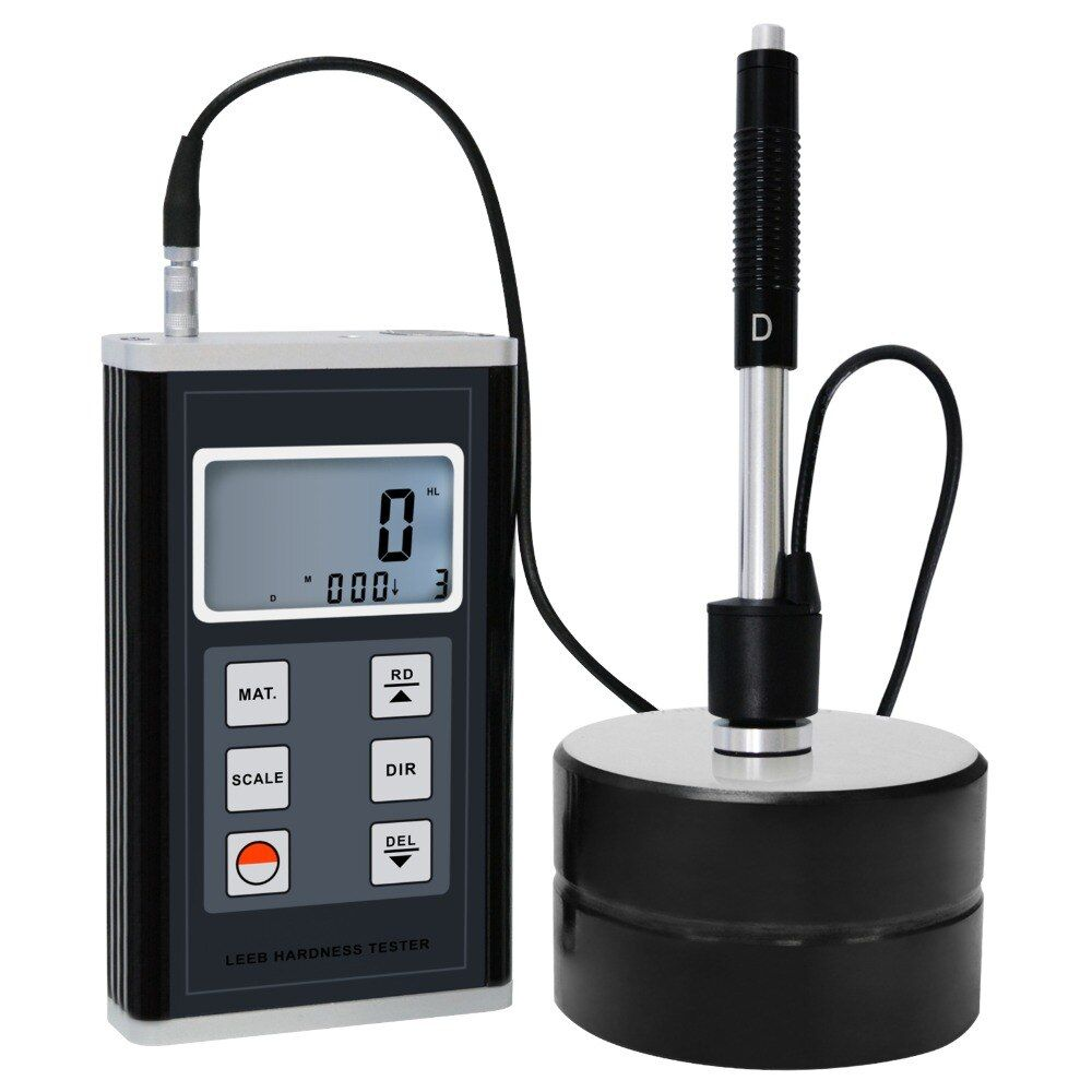 Leeb Hardness Meter Tester 170-960 HLD Metals Durometer D Type Impact Measurement Gauge Test Kit (HRB HRC HV HB HS HL)