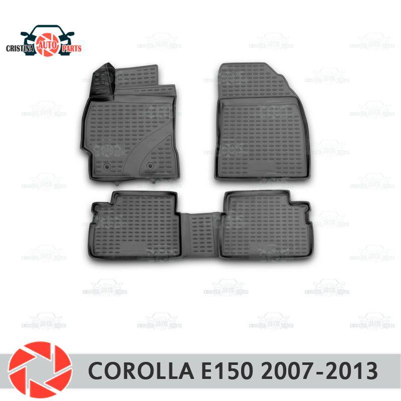 Boden matten für Toyota Corolla E150 2007-2013 teppiche non slip polyurethan schmutz schutz innen auto styling zubehör