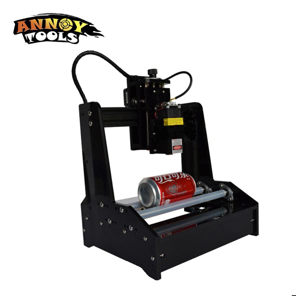 DIY 15000 mw 15 w laser gravur maschine mini laser kennzeichnung maschine Full Montiert Lieferung gravur auf zylinder auf metall