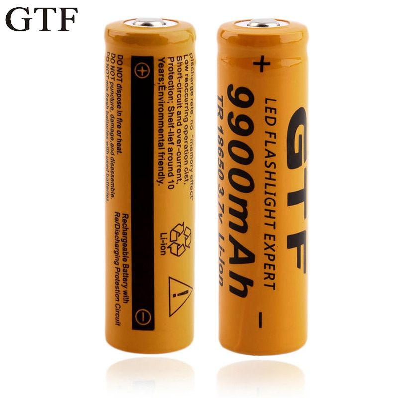 GTF 2 stücke 18650 batterie lithium-akku 9900 mAh lithium-batterie 3,7 V helle taschenlampe wiederaufladbare Batterie