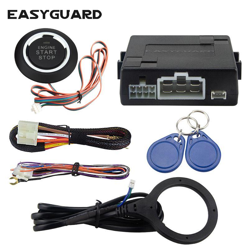 Système d'alarme de voiture RFID universel avec arrêt de démarrage du moteur à distance, arrêt de démarrage par bouton-poussoir, fonctionnement avec alarme de voiture d'origine