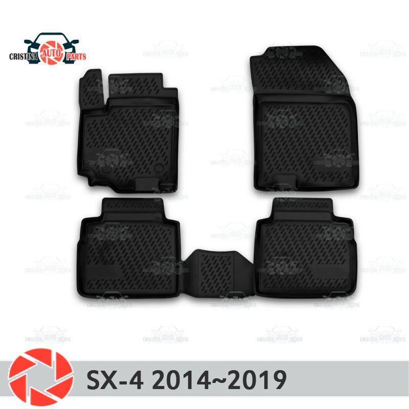 Boden matten für Suzuki SX4 2013 ~ 2019 teppiche non slip polyurethan schmutz schutz innen auto styling zubehör