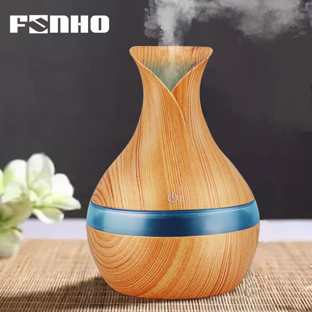 FUNHO 300ml Aroma Humidifier Air Aromatherapy Essential Oil Diffuser Night Light Steam Ultrasonic Fog Fogger For Home 066