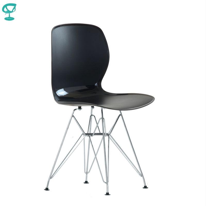 N12014Black Barneo N-12014 Kunststoff Holz Küche Innen Hocker esstisch Stuhl Küche Möbel Schwarz kostenloser versand in Russland