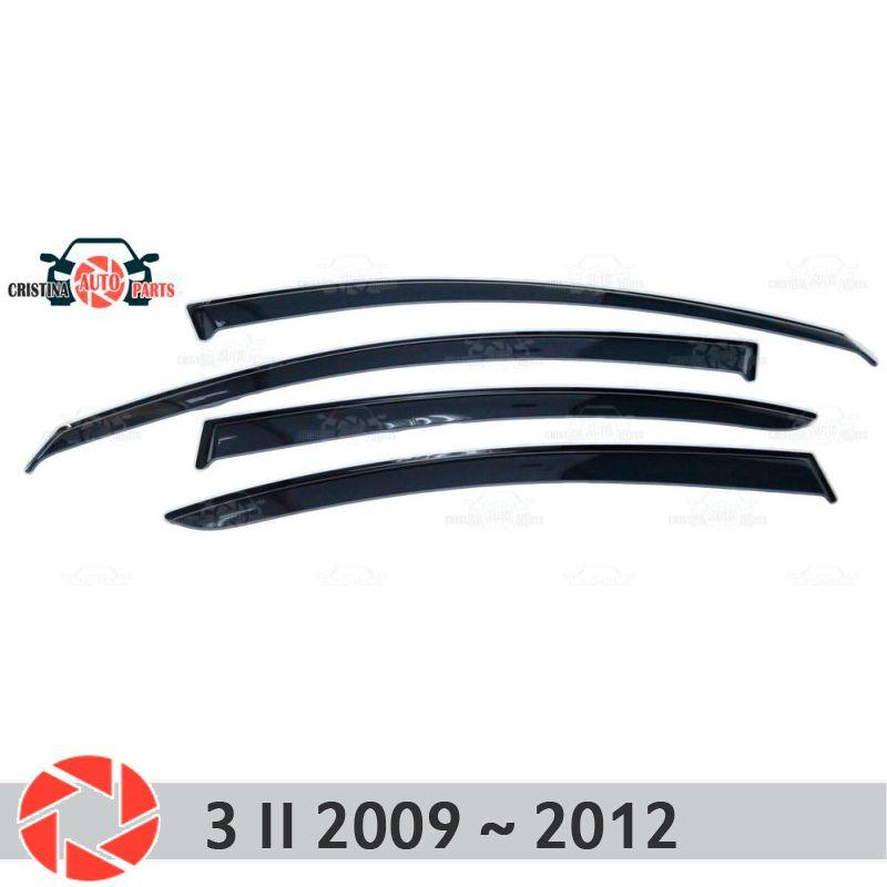 Fenster deflektor für Mazda 3 2009 ~ 2012 regen deflektor schmutz schutz auto styling dekoration zubehör molding