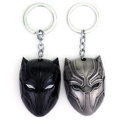 Mqchun DC Marvel Comics negro Panther llavero para hombres superhéroe Capitán América guerra civil llavero metal llavero regalo de la joyería