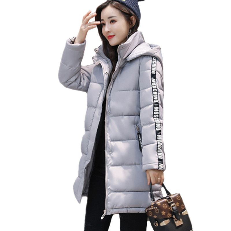 Winter Long Jacket Women Fashion Coat Padded Solid Hooded Down Jacket Outwear High Quality Warm Parka Women's Clothing